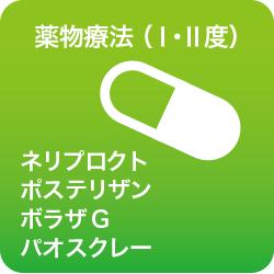薬物療法Ⅰ・Ⅱ度ネリプロクト/ポステリザン/ボラザG/パオスクレー