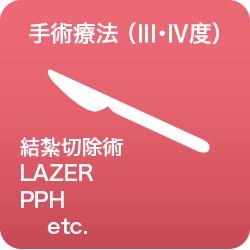 手術療法Ⅲ・Ⅳ度結紮切除術/LAZER/PPH/etc.