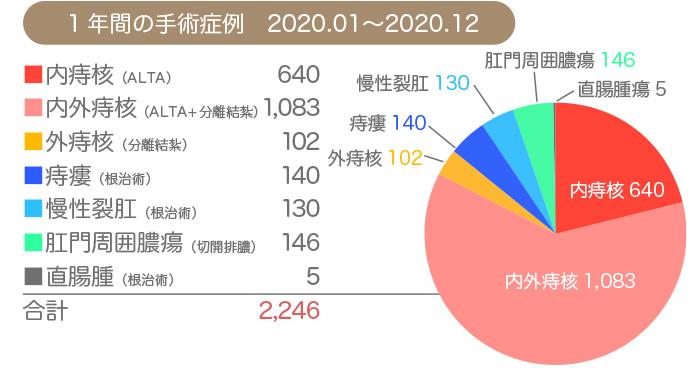 2020年1年間の手術実績