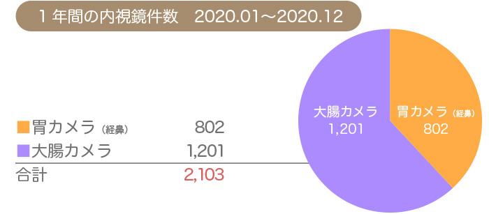 2020年1年間の内視鏡件数